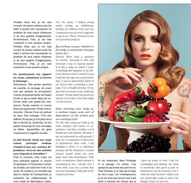 Interview Artravel magazine Annina Roescheisen page 45